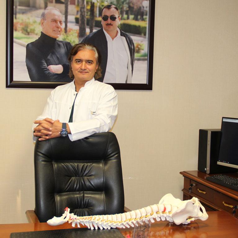 Onurga cerrahi, ortoped travmatoloq Dr. Elviz Qasimov